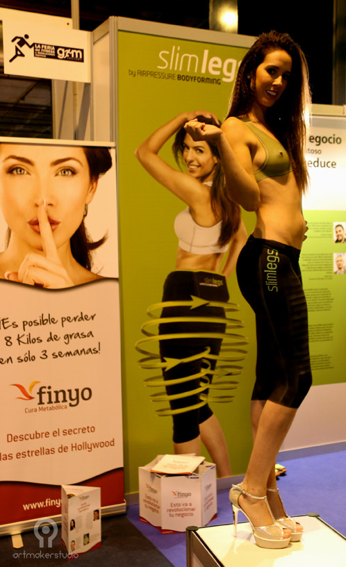 BODY PAINTING- MAQUILLAJE CORPORAL por Art Maker Studio. Para Slim Belly en Feria GYM FITUR2015