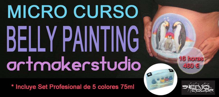 Micro Curso Belly Painting, Micro Curso Pintura corporal para embarazadas, Curso Body Painting Premamá, Curso Pintar Barriguitas Embarazadas