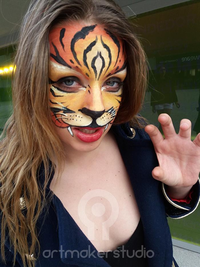 tigresa Face Paint en FamilyLand Market 2017
