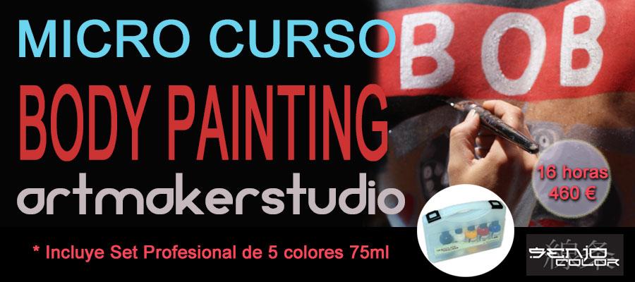 Micro Curso de Body Paint, maquillaje profesional para aerógrafo, pincel o esponja, Body Painting, Maquillaje corporal, Body Art