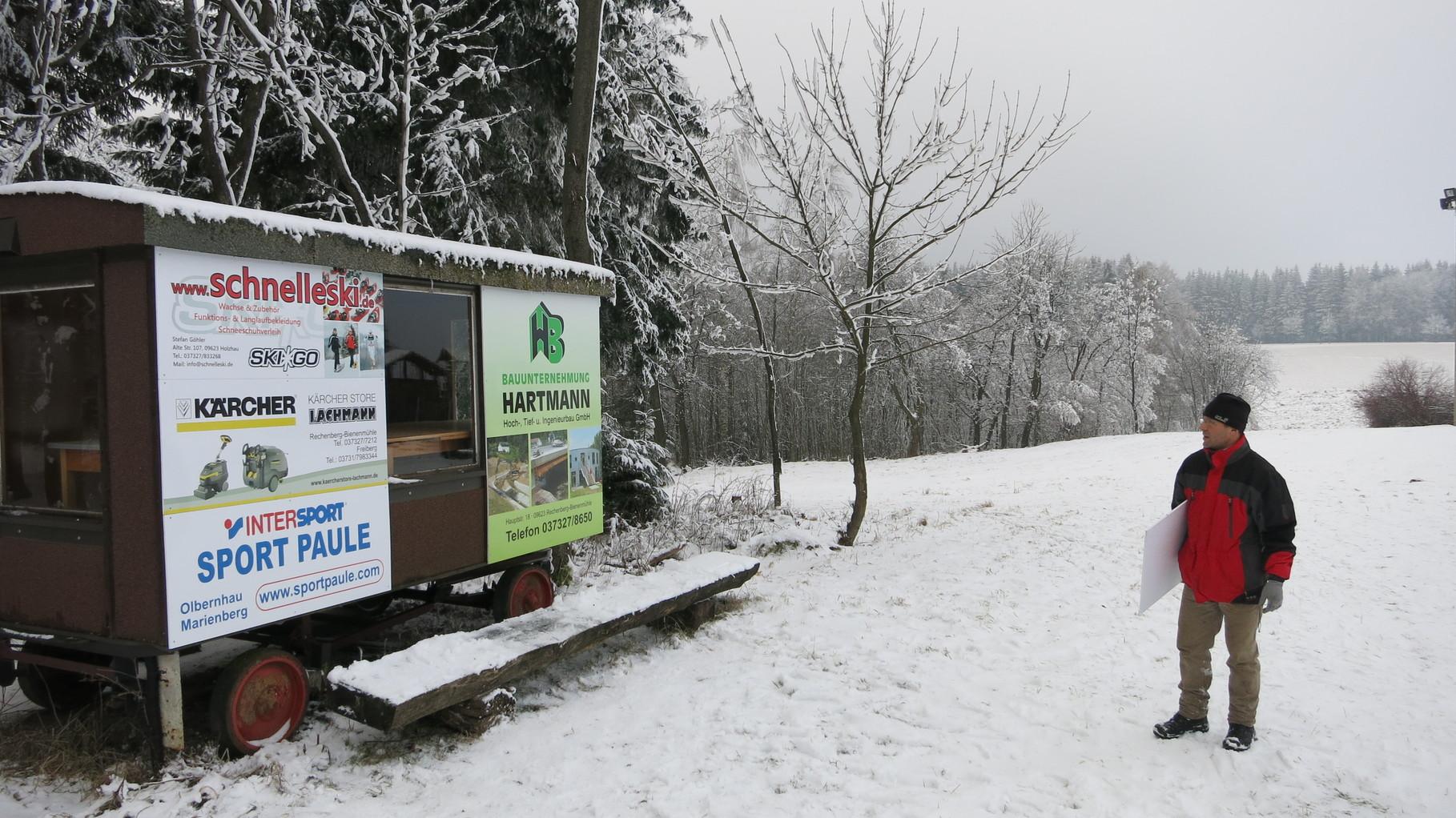 Zeitmessungen mit den Sponsoren SchnellerSki.de, Kärcherstore Lachmann, Sportpaule und Hartmann-Bau.