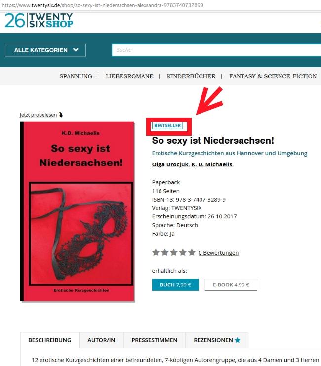 Buch: So sexy ist Niedersachsen! von K.D. Michaelis im 26TwentySixShop - Bestseller