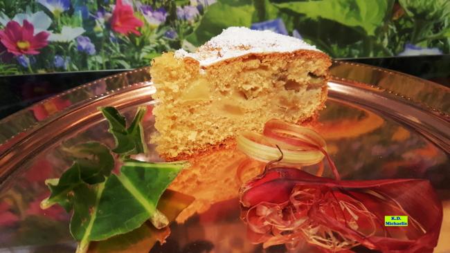 Dinkel-Dreams 2: Rhabarber-Apfel-Kuchen