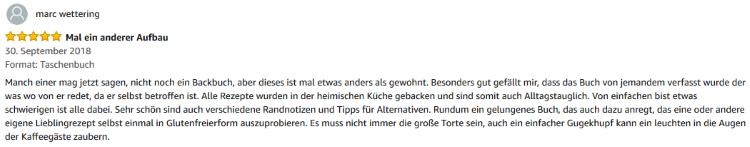 Rezension zu eBook/Buch: Lieblings-Backrezepte: Ohne Gluten von K.D. Michaelis