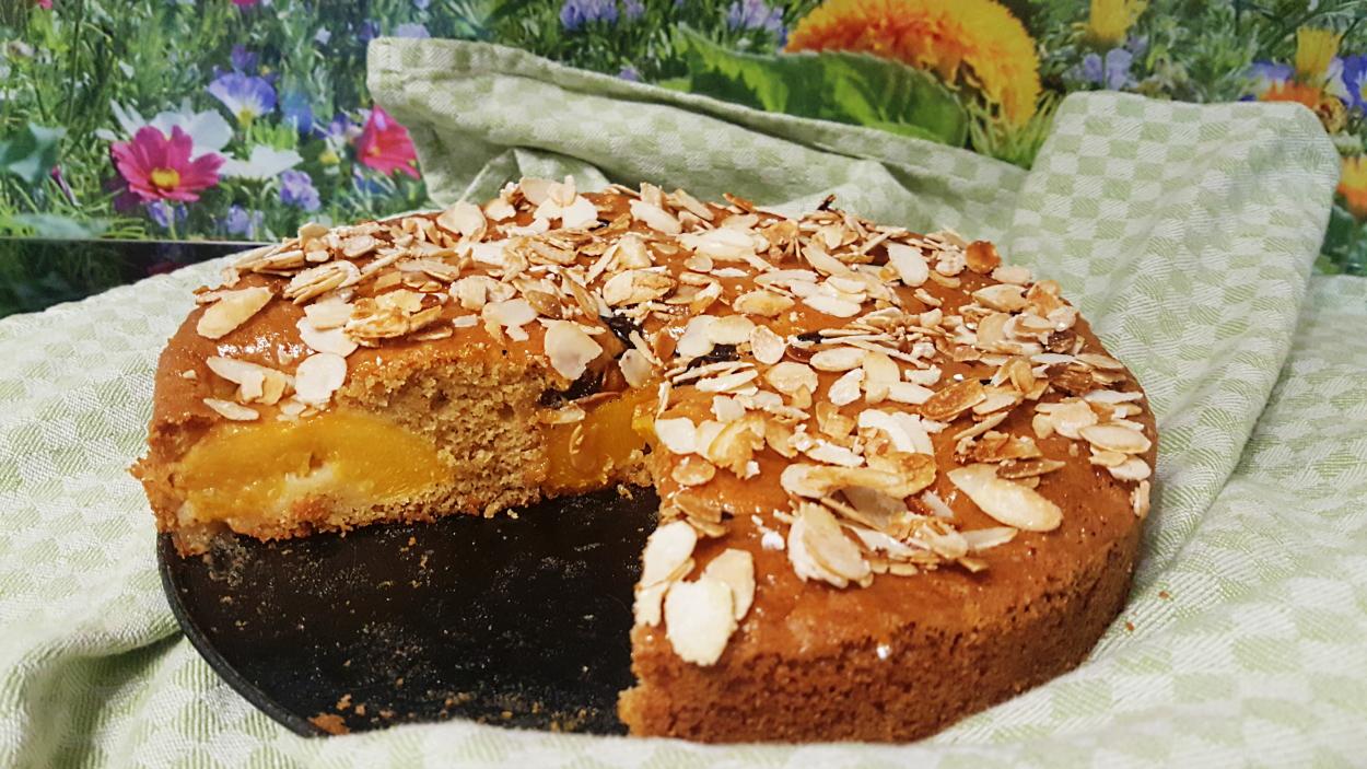 Dinkel-Dreams 2: Pfirsich-Mandel-Rührkuchen