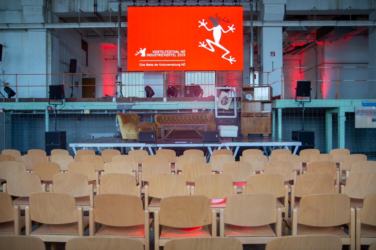 Eröffnung Viertelfestival mit Bühne