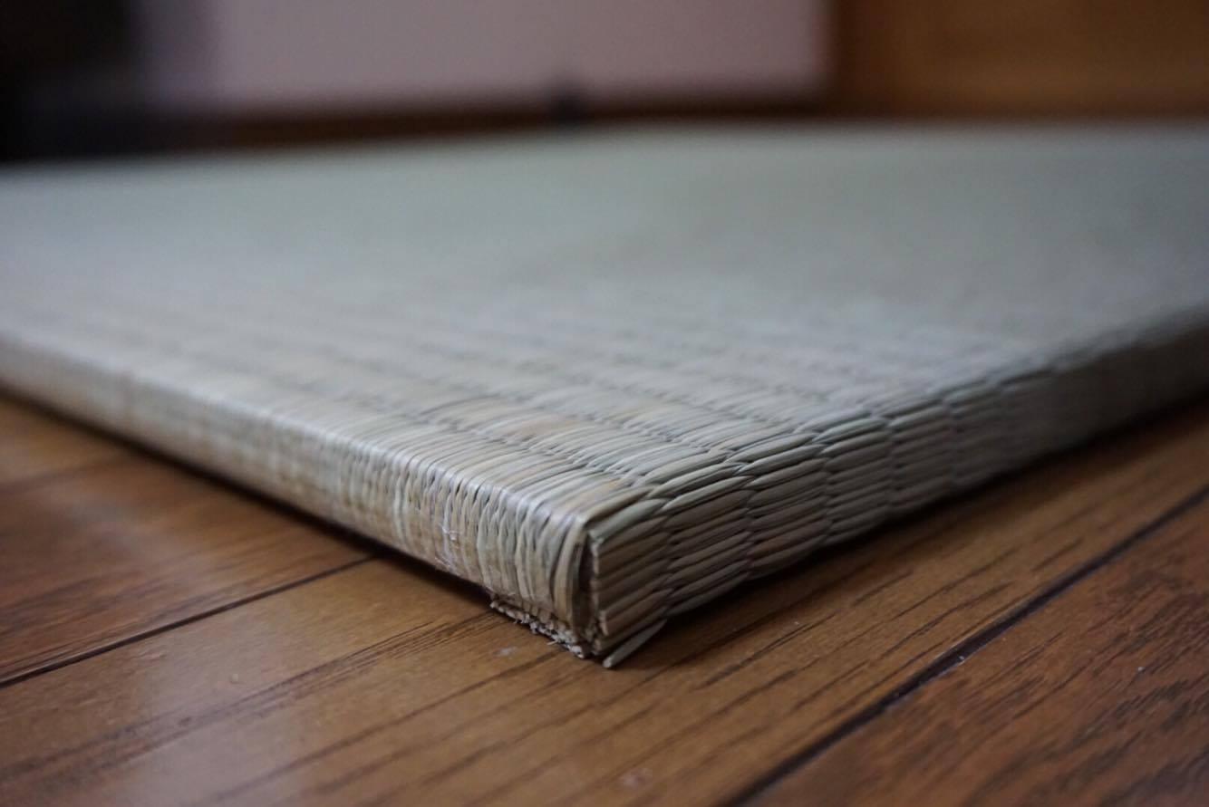 畳縁が無いから琉球畳の風合い