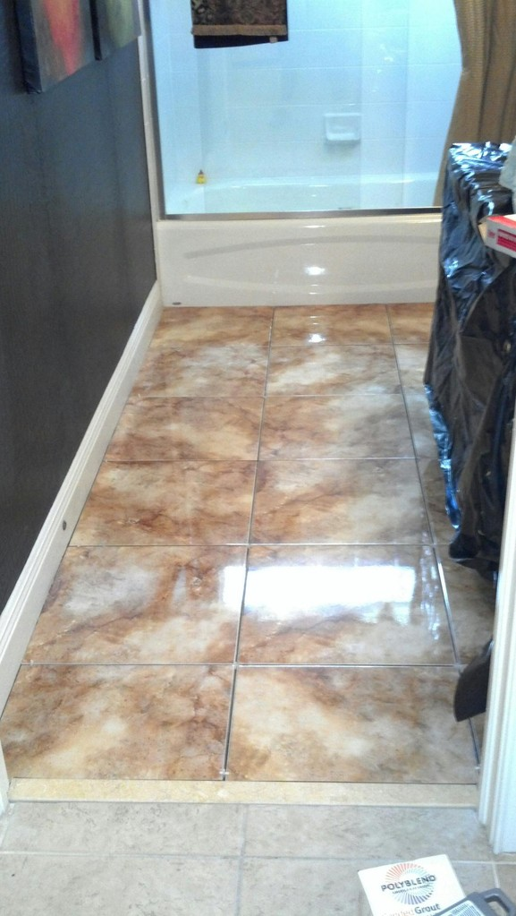 Bathroom Flooring After
