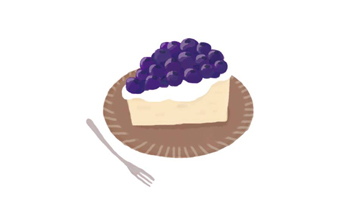ブルーベリーケーキ/photoshop
