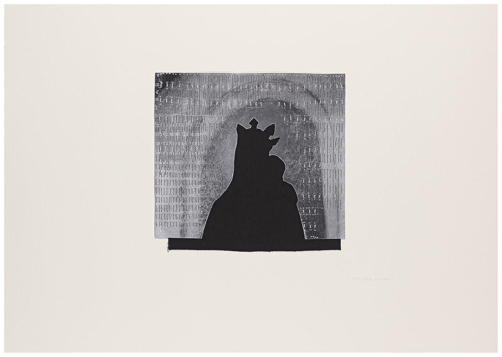 """aus der Serie """"die weinende Mutter"""", 2015, Technik: Papierarbeit, Collage, Stickerei, Größe: 21 cm x 22,5 cm, 43 cm x 60 cm incl. Rahmen, in Privatbesitz"""