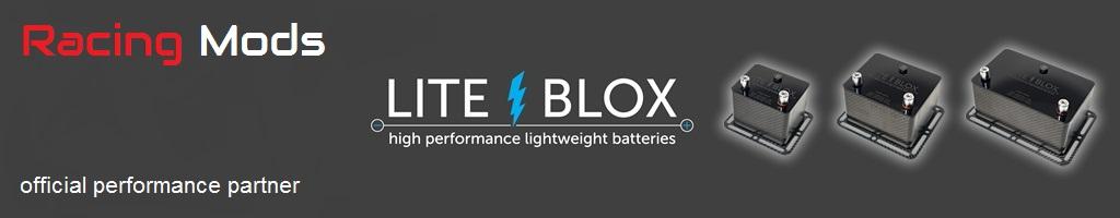 Lite Blox Carbon Motorpsort Batterie Litium
