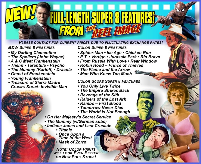Special Order Full Length Super 8 Import Features from The Reel Image!