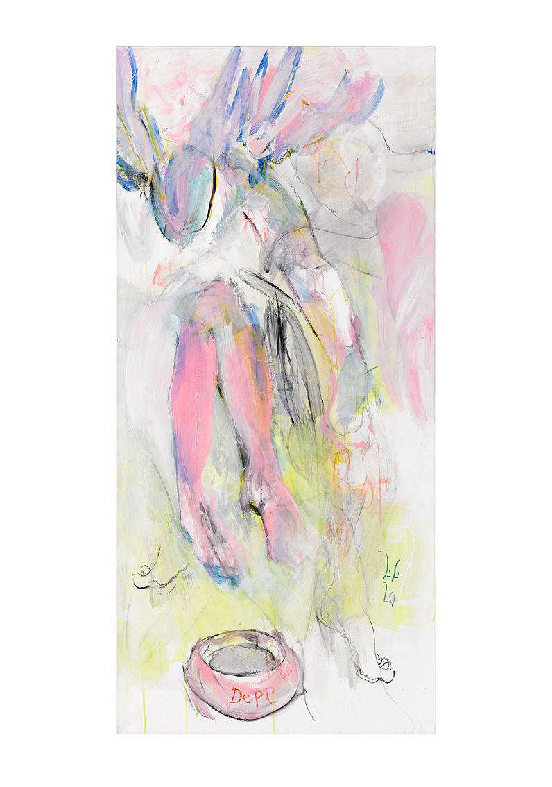Wekarus 5_150x70_Acryl, Kohle & Pastell auf Lwd.