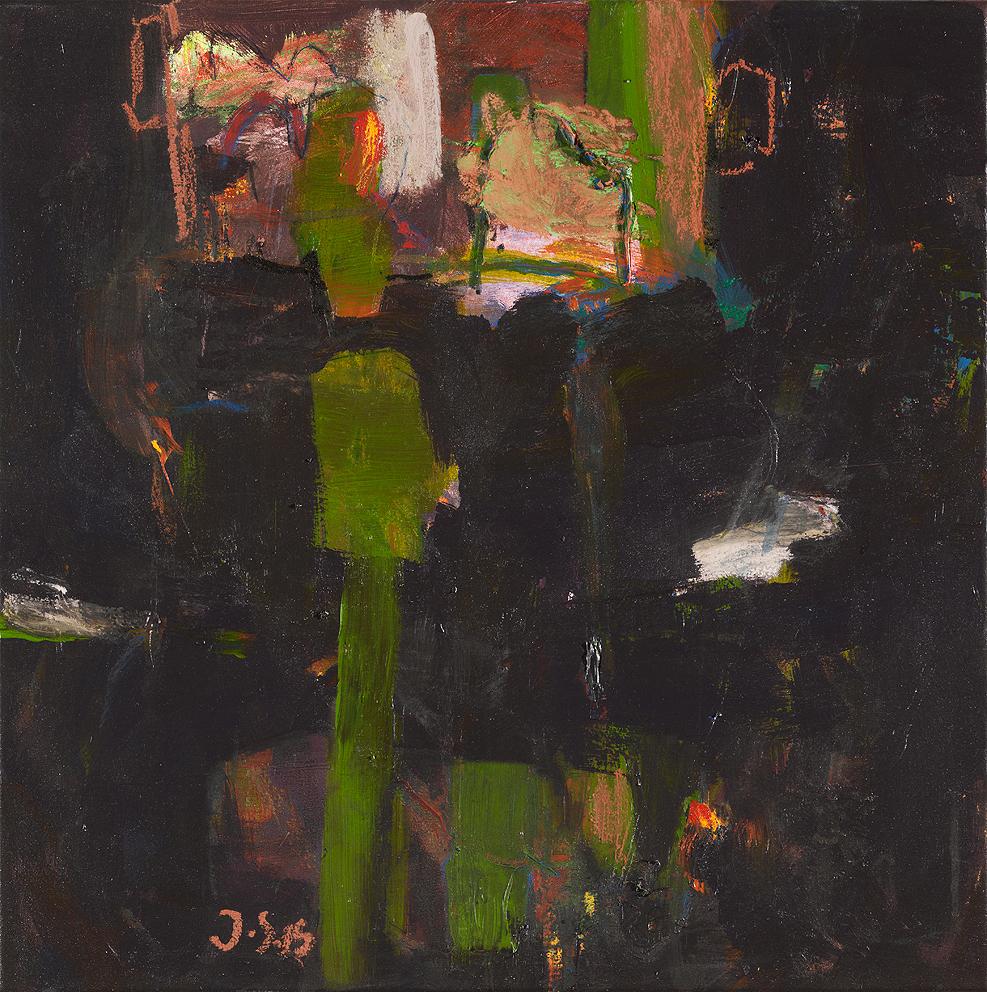 Kopffrühling_2015_Mixed media on canvas_50x50cm