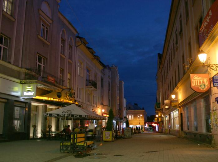 Ночной Ужгород