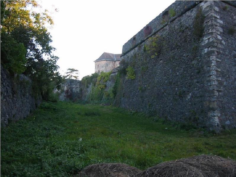 Широкий ров вдоль замковых стен