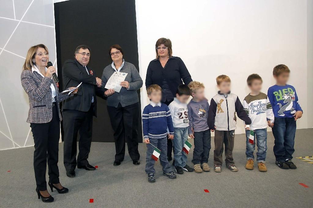 Premiazione del concorso a Padova il 10 novembre 2011