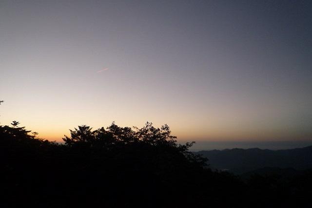 玉置山山頂 夜明け