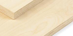 KoskiLaser transparent ist homogenes Finnisches Birken-Sperrholz, mit beidseitig veredelten Oberflächen, spezial verleimt für Laserschnitte.