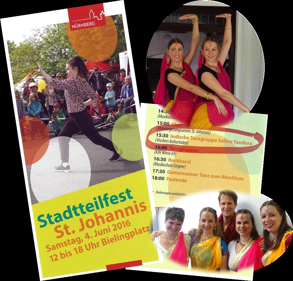 Bollywood und semiklassischer indischer Tanzauftritt