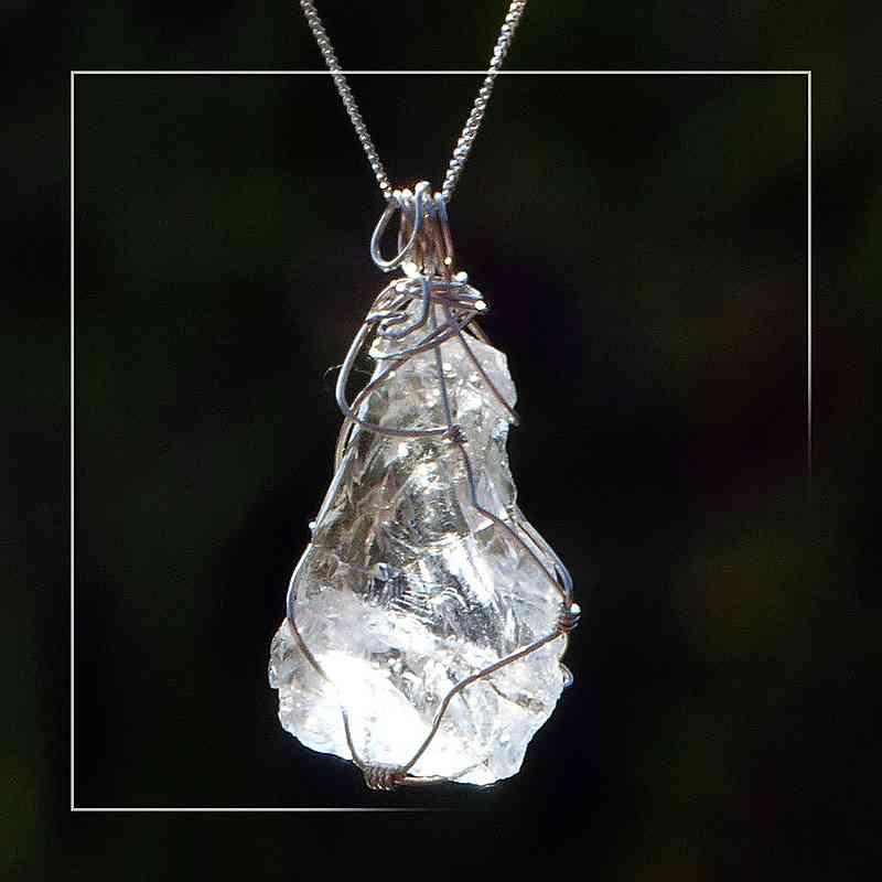 Bergkristall in Silber