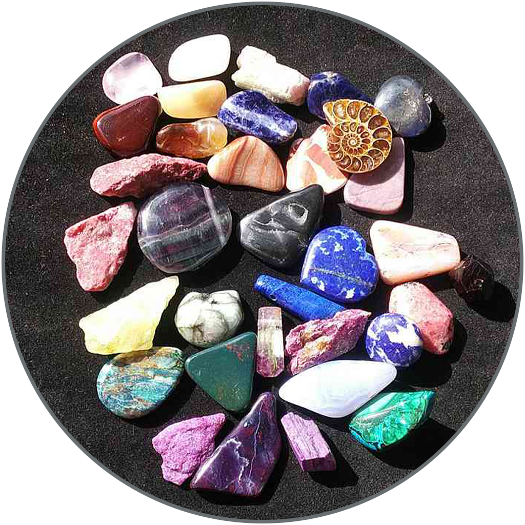 Edelsteine in allen Farben