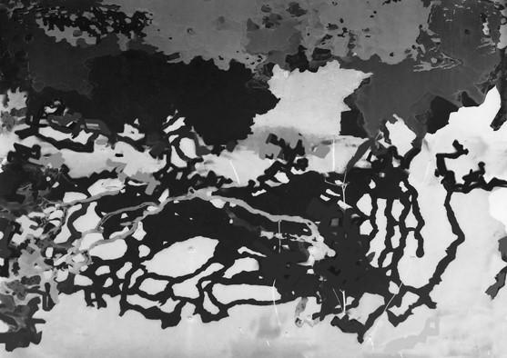 """WEYHER, """"Sans titre"""", Psilographie, 30x40 cm, 2018"""