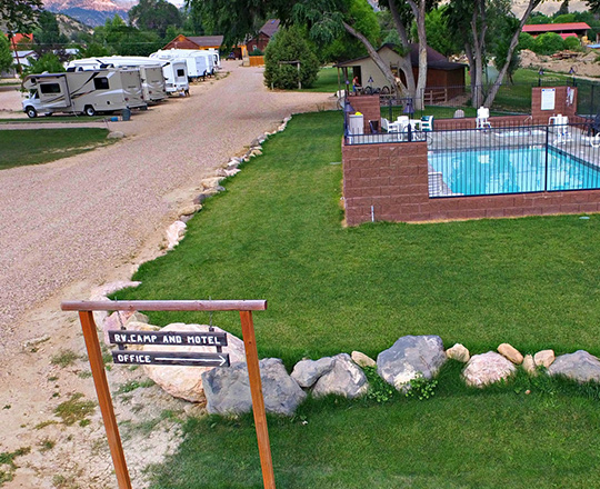 RV PULL SITES & POOL