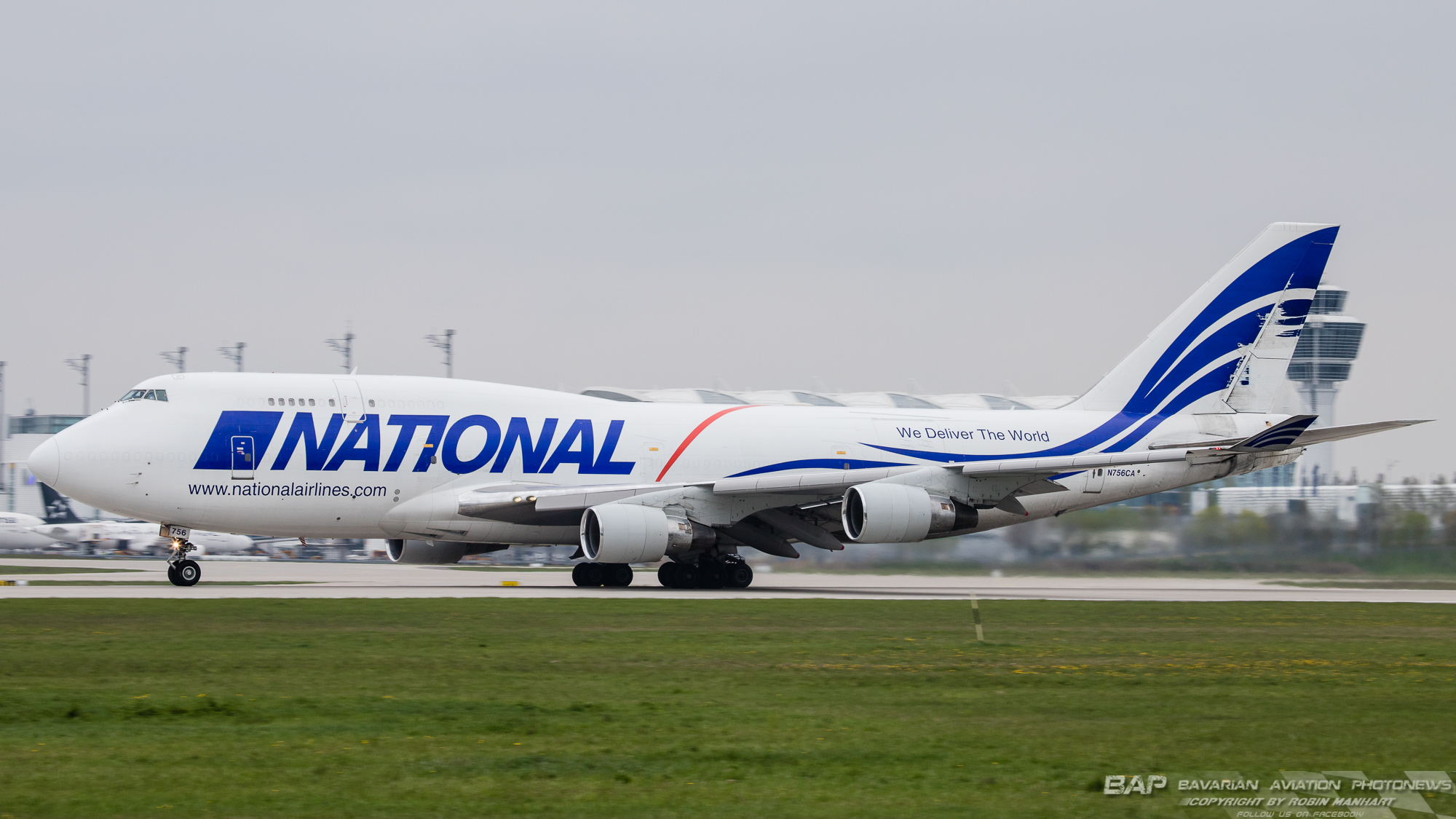 """N756CA B744F NATIONAL AIRLINES """"WHITE C/S"""""""