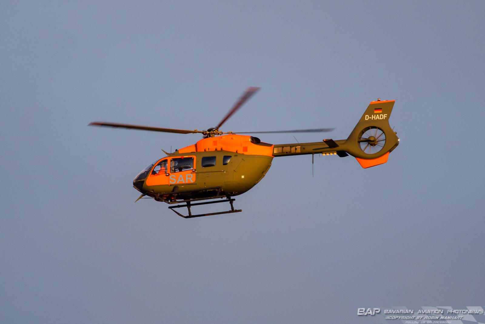D-HADF während eines Ausbildungsfluges über Lechfeld