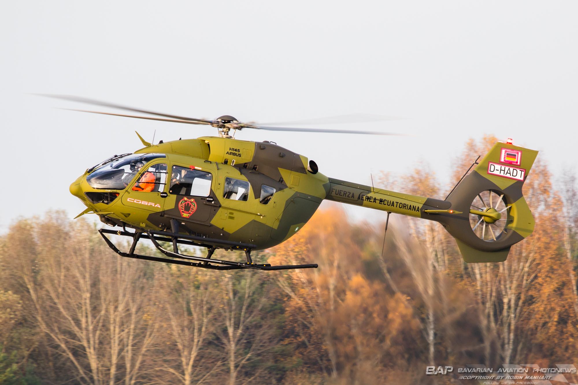 """UNK H145M """"D-HADT"""" 2211sqd Cobra FA Ecuatoriana;"""