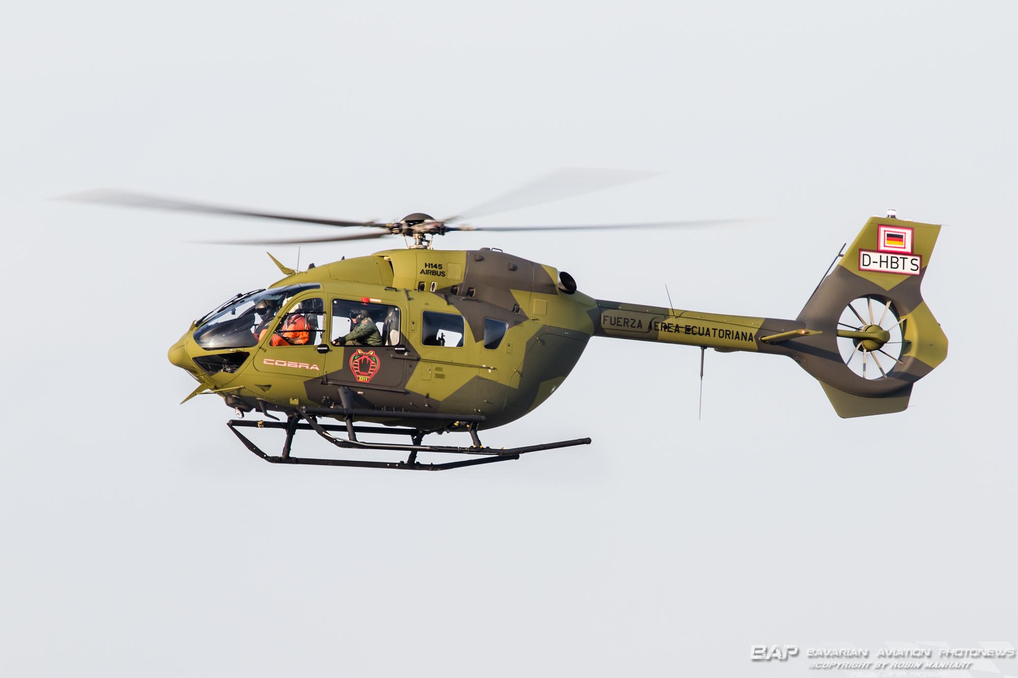 """UNK H145M """"D-HBTS"""" 211sqd Cobra FA Ecuatoriana;"""