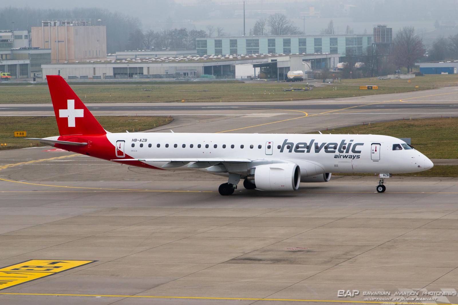 HB-AZB E290 HELVETIC AIRWAYS @ZHR