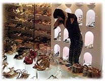 Photo of a Korean shoe shop - Foto eines koreanischen Schuhgeschäftes