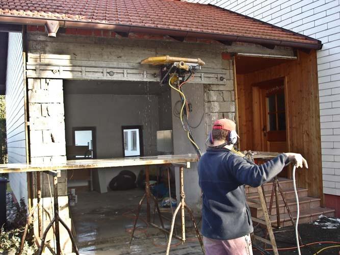 Vergrößerung Garagentor mit Wandsäge