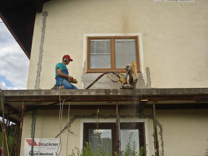 Balkon abschneiden mit Wandsäge