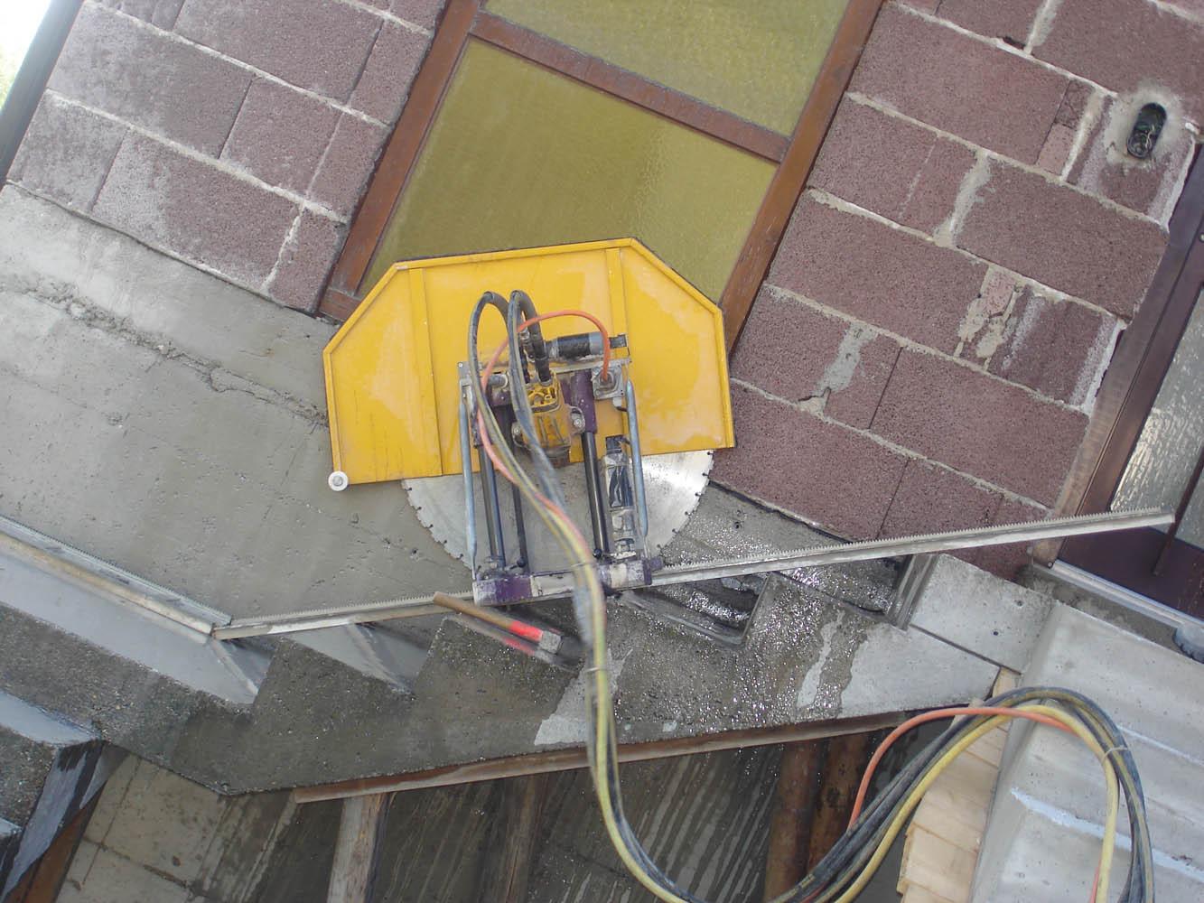 Betonstiege abschneiden mit Wandsäge