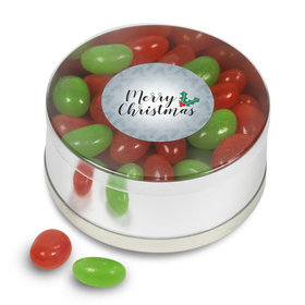 Merry Christmas Red & Green Jelly Beans Gift Tin