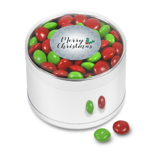 Merry Christmas Red & Green Gems Gift Tin