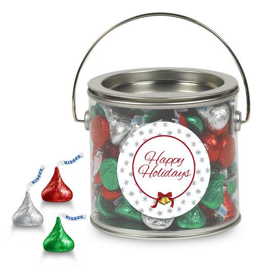 Happy Holidays Kisses Gift Pail