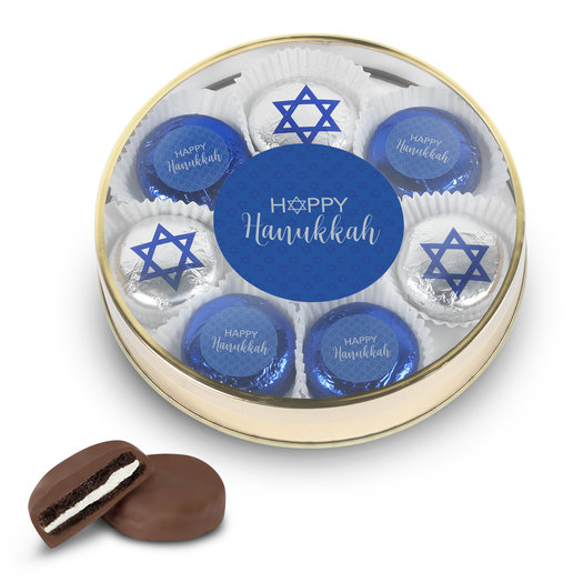 Happy Hanukkah Chocolate Covered Oreos Gift Tin