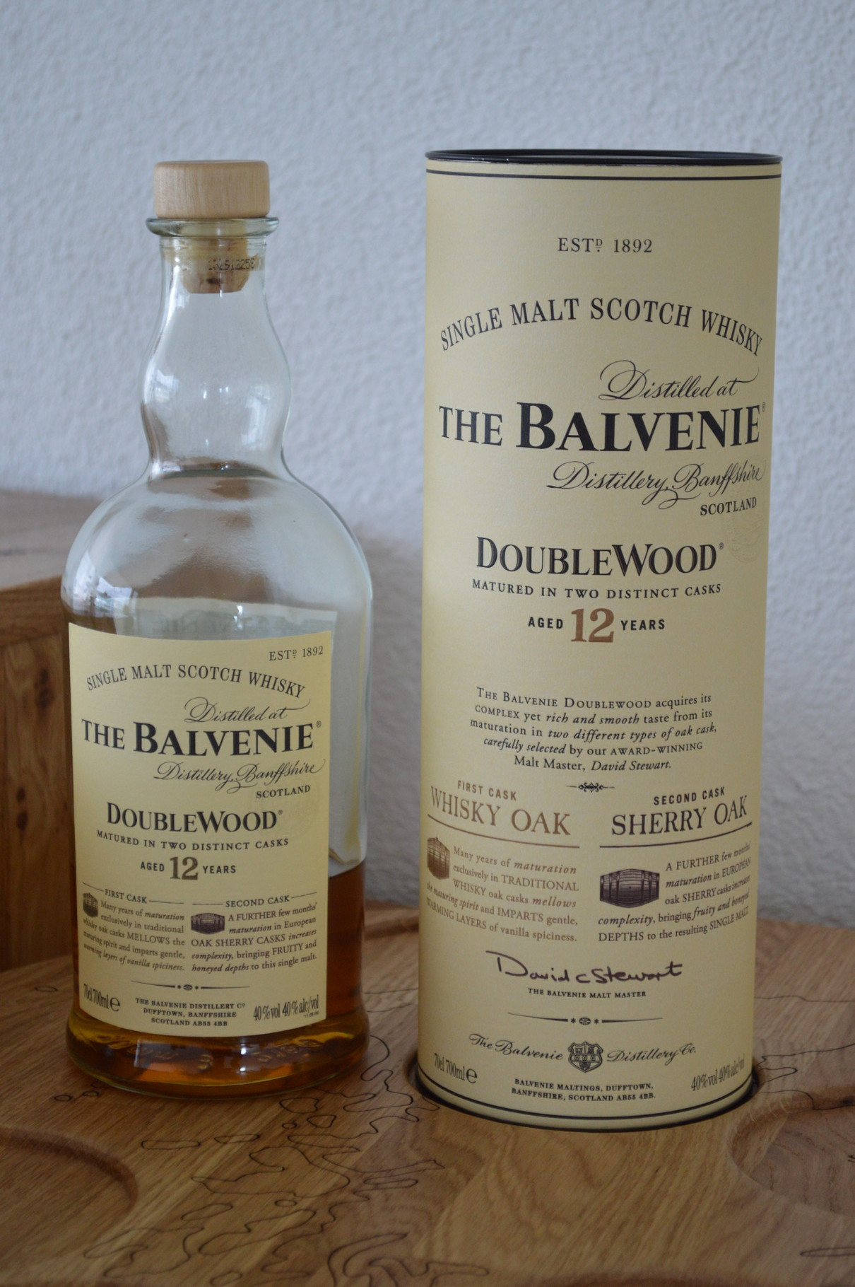 SPEYSIDE - The Balvenie* - Aged: 12 years - Bottler: Original - 70cl - 40% - Double Wood