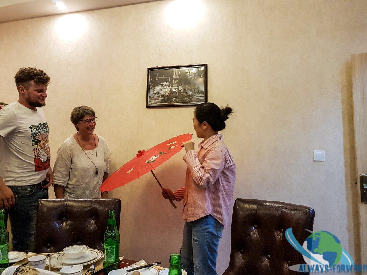 Abschiedsgeschenk für Yingchu