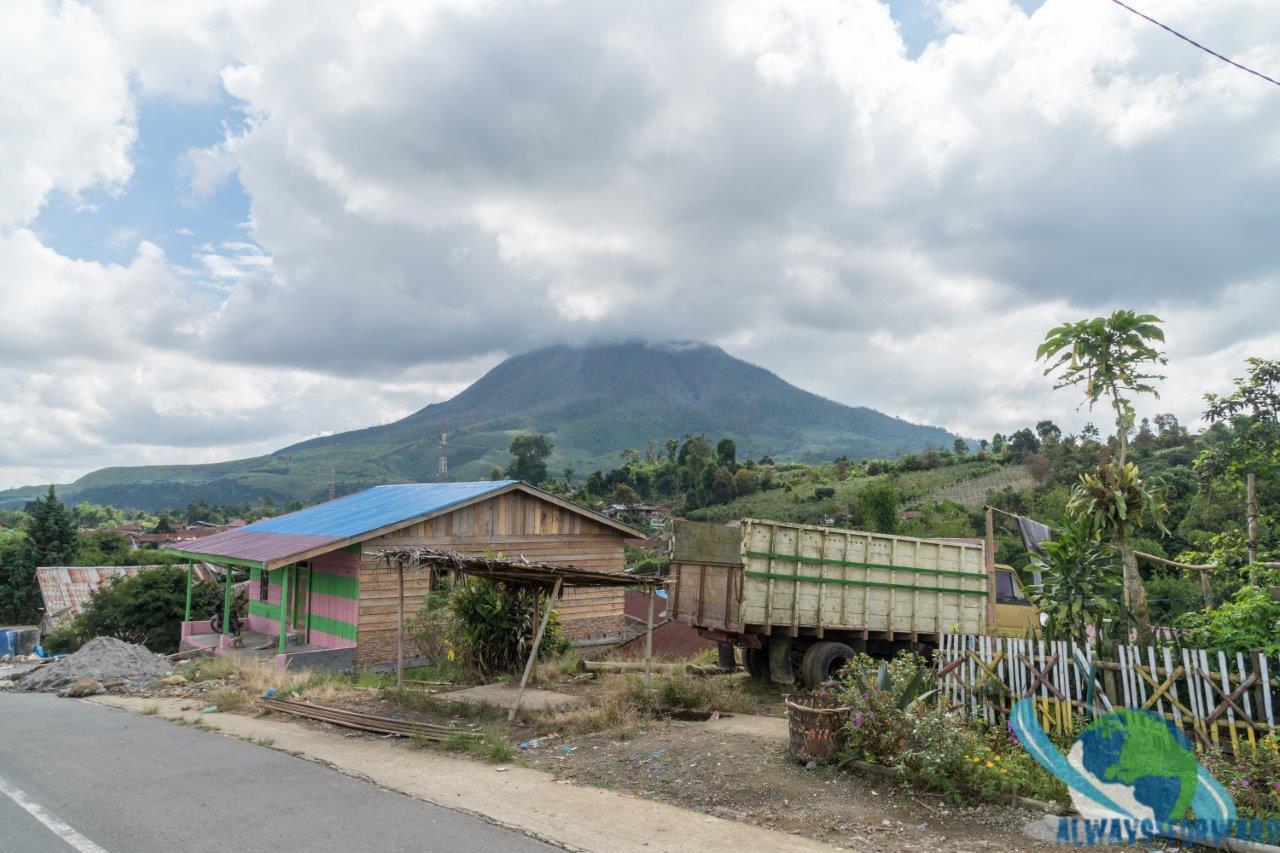 herrliche Aussicht auf den Vulkan