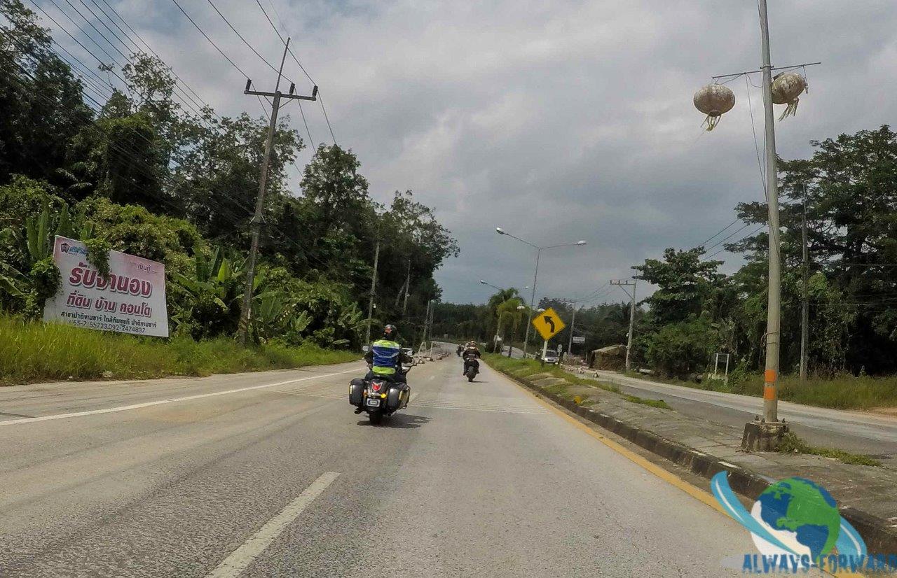 mit den Bikern aus Malaysia unterwegs
