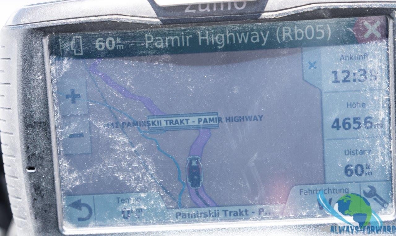 der höchste Punkt am Pamir auf 4656m