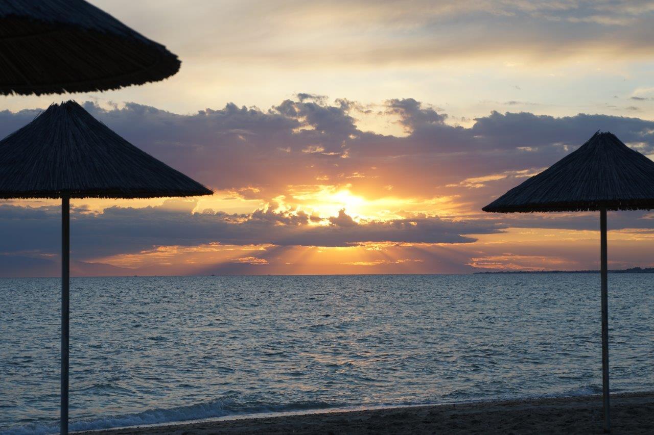 Sonnenuntergang am Campingplatz
