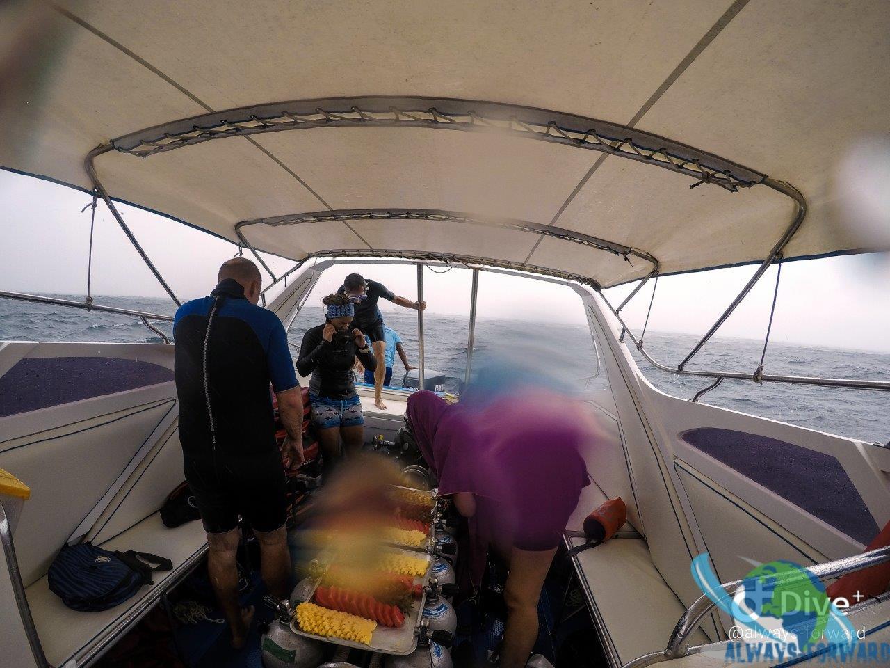 ungemütlich auf dem Boot