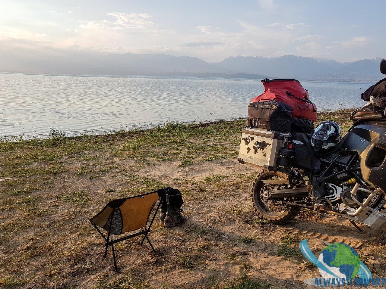 am Toktogul-Reservoir