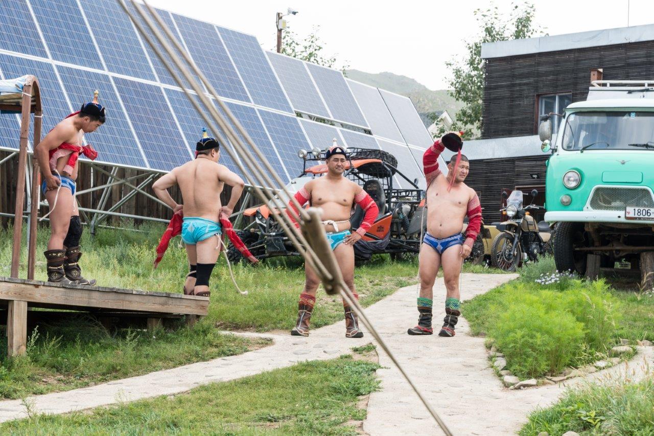 Mongolische Ringkämpfer